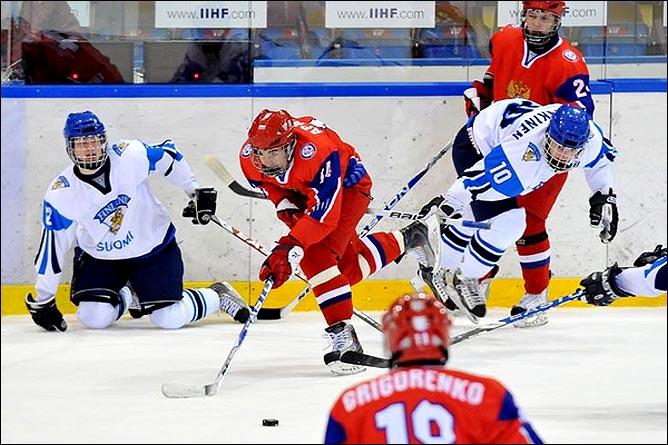 16.04.2010. Чемпионат мира U-18. Россия - Финляндия - 4:5. Фото 01.