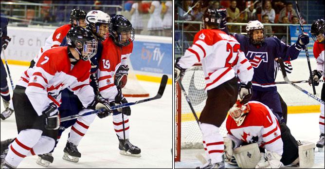 16.04.2010. Чемпионат мира U-18. США - Канада - 5:0. Фото 01.
