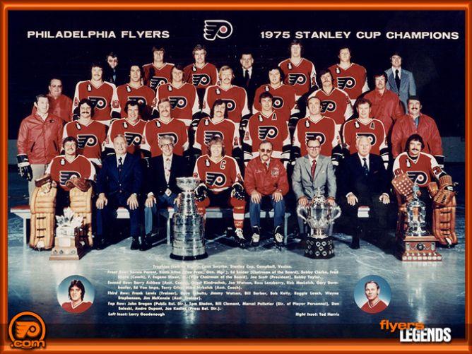 "Обладатели Кубка Стэнли 1975 года – ""Филадельфия Флайерс""."
