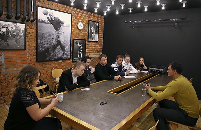 Владимир Габулов и журналисты «Чемпионата»