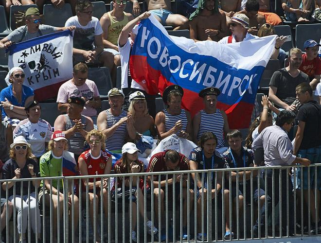 Сборная России в Португалии не остаётся без активной поддержки
