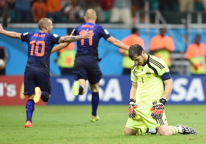 Сборная Нидерландов разгромила Испанию со счётом 5:1 в матче 1-го тура группового этапа чемпионата мира