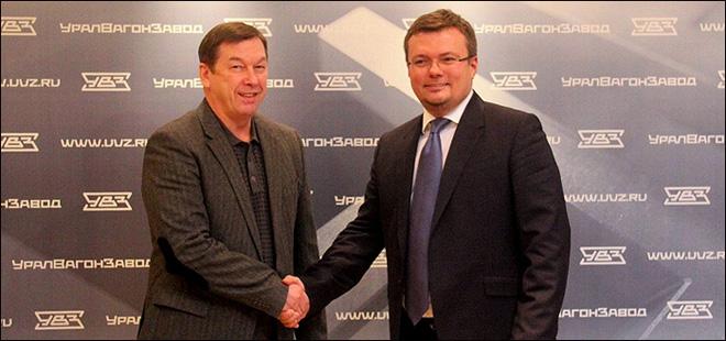 Владимир Голубович и председатель попечительского совета «Спутника» Алексей Жарич