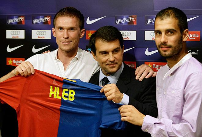 Александр Глеб в составе «Барселоны»