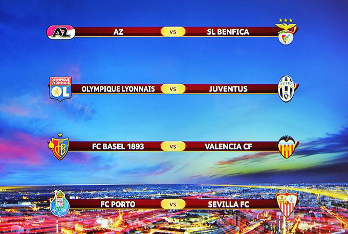 Четвертьфинальные пары Лиги Европы УЕФА