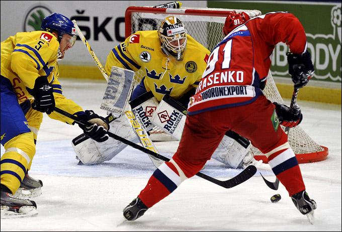 11 февраля 2012 года. Стокгольм. Еврохоккейтур. Шведские игры. Швеция — Россия — 4:1