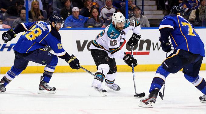 "21 апреля 2012 года. Сент-Луис. Плей-офф НХЛ. 1/8 финала. ""Сент-Луис Блюз"" — ""Сан-Хосе Шаркс"" — 3:1"