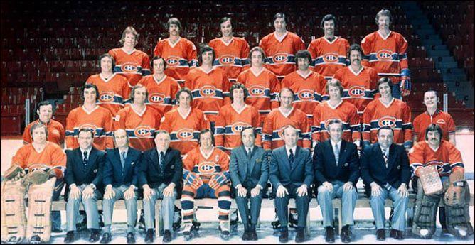 """Обладатели Кубка Стэнли 1976 года - """"Монреаль Канадиенс""""."""