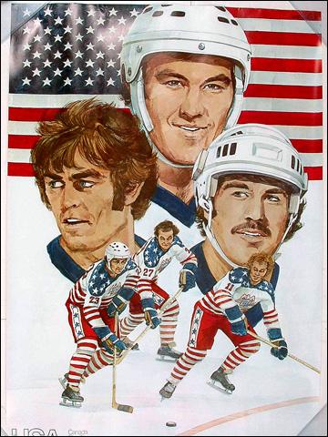Афиша сборной США, посвященная Кубку Канады 1976 года