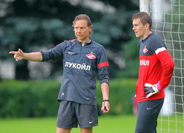 Валерий Карпин и Антон Митрюшкин