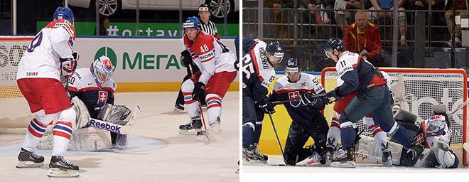 Игровые моменты матча Словакия — Чехия
