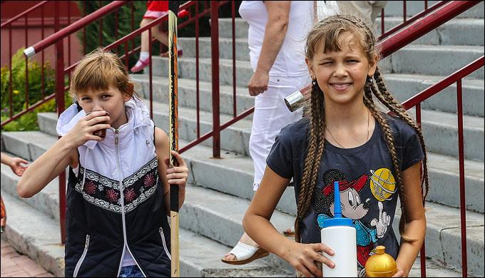 Женский легион в летнем лагере профсоюза КХЛ
