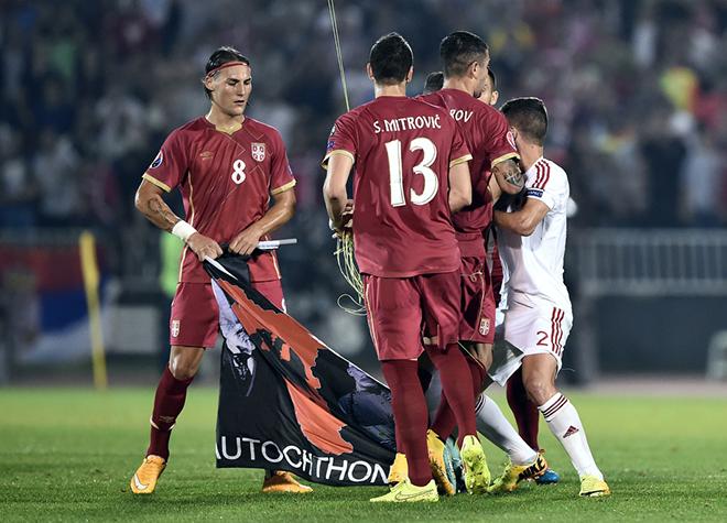 Сербия — Албания