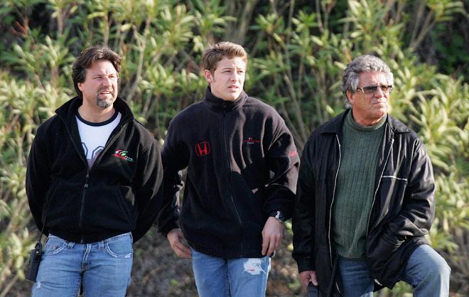 Майкл Андретти, Марко Андретти и Марио Андретти на тестах Формулы-1