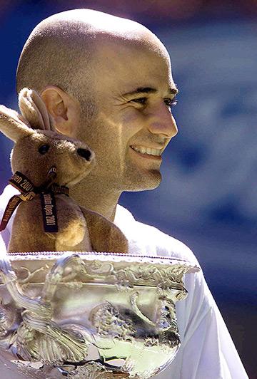Андре Агасси – первый игрок в Открытой эре с 4-мя титулами в Австралии