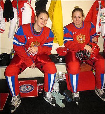 Александра Вафина (слева)
