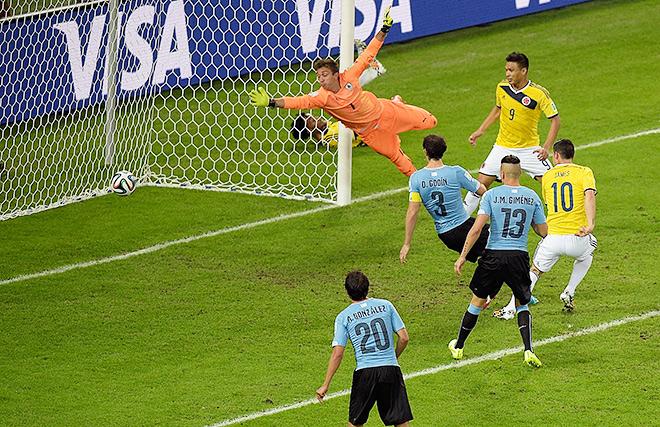 Второй гол колумбийца Хамеса Родригеса