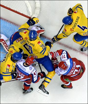 Против Радулова и Ковальчука шведы отрядили звено чеккеров