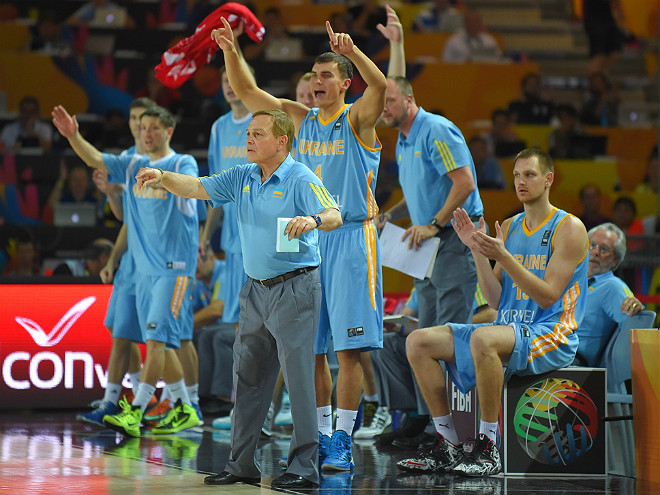 Скамейка сборной Украины реагирует на «камбэк»