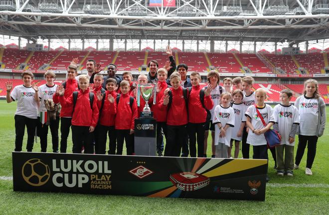 Игроки «Спартака» и участники Детского кубка чемпионов