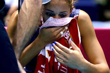 Связующая сборной США Алиша Гласс после поражения от бразильянок