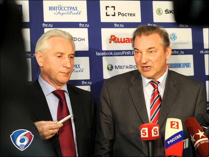 Зинэтула Билялетдинов и Владислав Третьяк