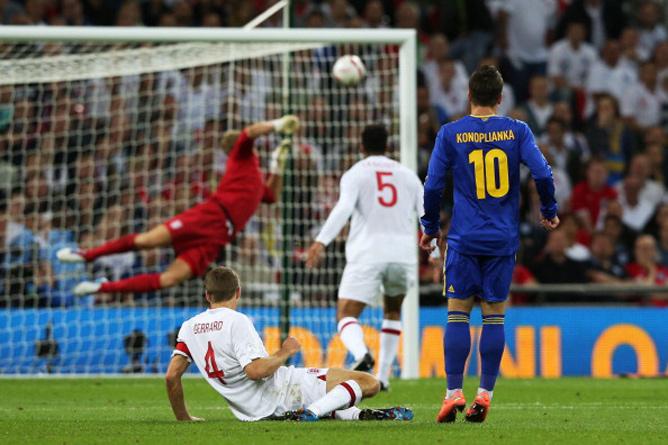 Самый красивый гол 2012 года забил Коноплянка в ворота англичан