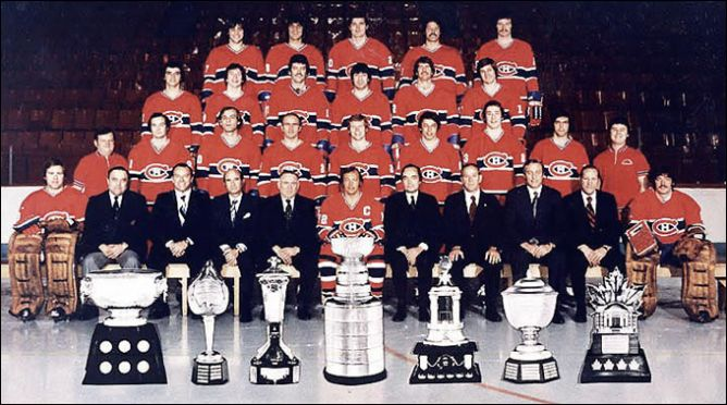 """Обладатели Кубка Стэнли 1977 года - """"Монреаль Канадиенс""""."""