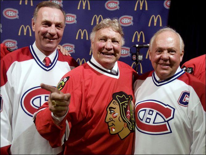 8 января 2008 года. Слева направо: Ги Лефлер, Бобби Халл и Иван Курнуайе.