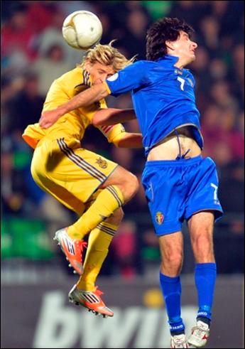 Тимощук свои моменты в матче ЧМ-2014 Молдавия — Украина не использовал