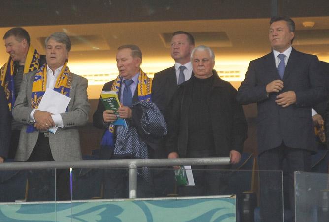 Янукович лично поддерживал сборную Украины во многих матчах