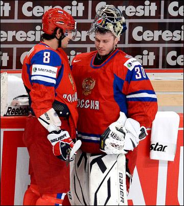 Константин Барулин (справа) и Александр Овечкин