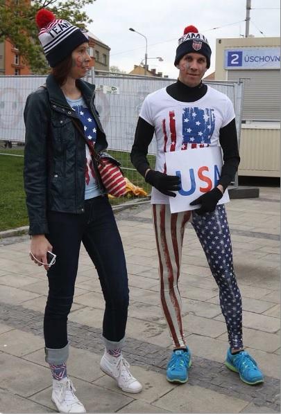 Болельщики сборной США