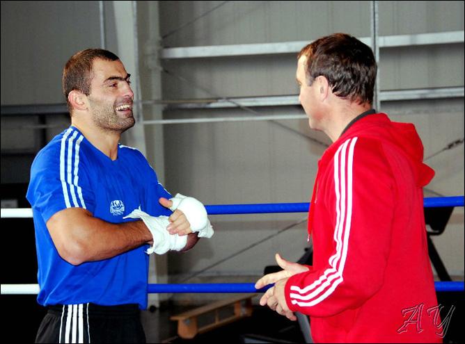 Рахим Чахкиев со своим наставником Михаэлем Тиммом