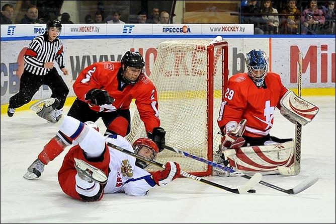 20.04.2010. Чемпионат мира U-18. Россия - Швейцария - 4:3. Фото 01.
