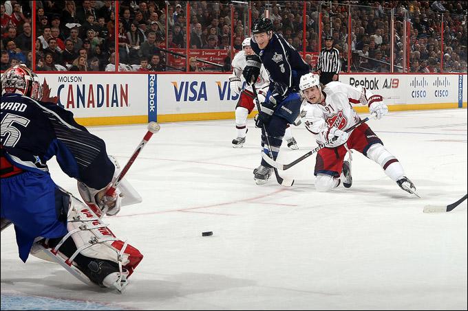 29 января 2012 года. Оттава. Матч звёзд НХЛ. В атаке Стивен Стэмкос