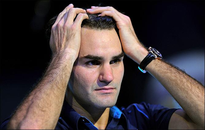 Роджер Федерер не смог выйти в Дохе на матч из-за травмы, что с ним случается очень редко.