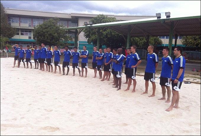 Судейский десант чемпионата мира по пляжному футболу на Таити