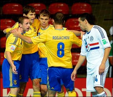 1 ноября 2012 год. Футзал. ЧМ-2012. Группа А. Украина — Парагвай — 3:3