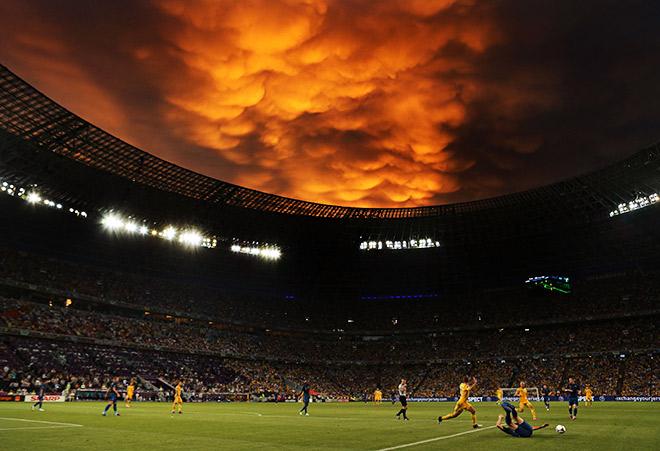 Матч Украина – Франция на Евро-2012 чуть не сорвался из-за дождя
