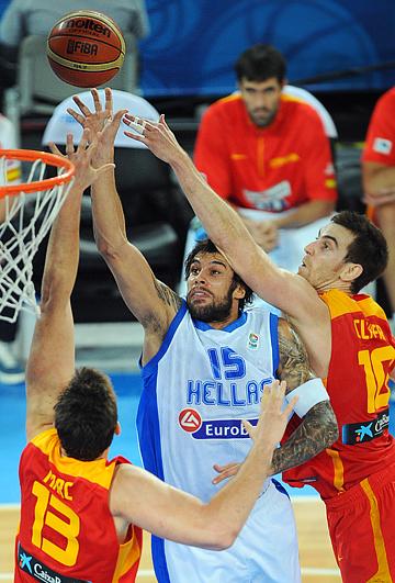 Евробаскет-2013. Второй групповой этап. 1-й тур. Группа E. Греция – Испания – 79:75