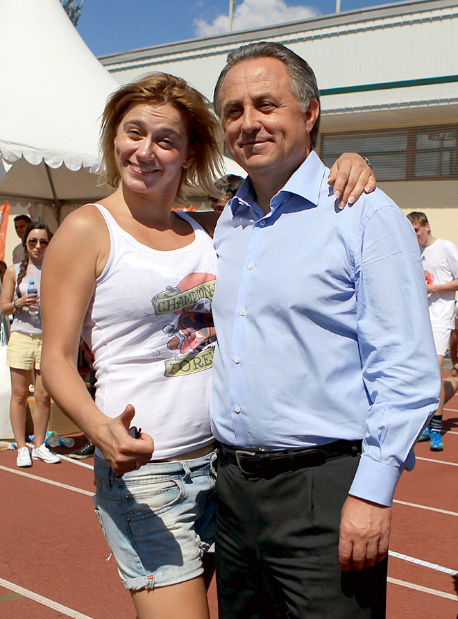Елена Константинова и Виталий Мутко