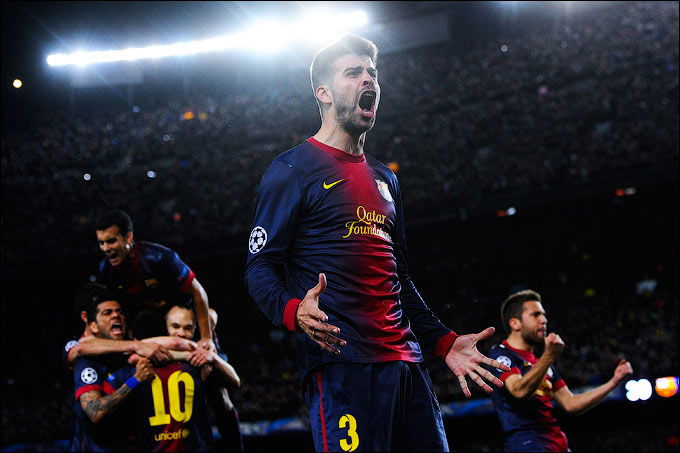 "12 марта 2013 года. Испания. Лига чемпионов УЕФА. 1/8 финала. ""Барселона"" — ""Милан"" — 4:0"