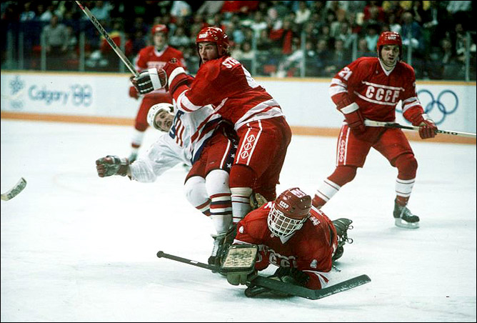 Хоккей. История чемпионатов мира. ЧМ-1989-1990. Фото 06.