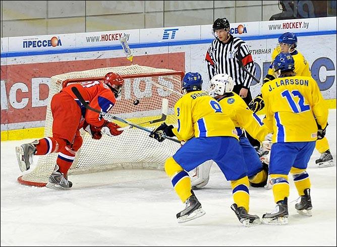 21.04.2010. Чемпионат мира U-18. Россия - Швеция - 1:3. Фото 01.