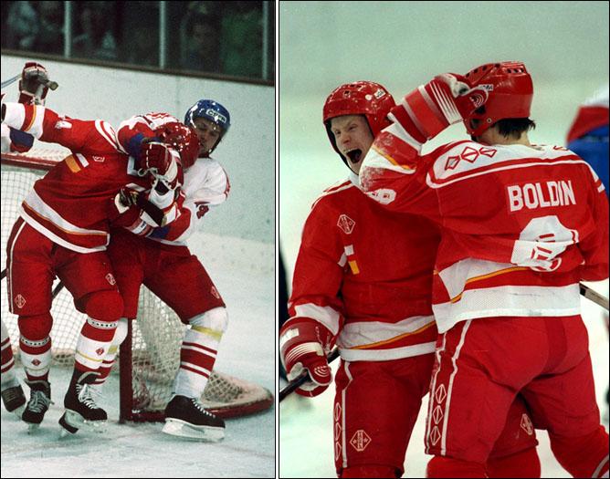 Хоккей. История чемпионатов мира. ЧМ-1991-1992. Фото 06.