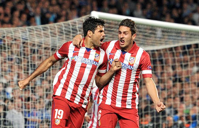 Лучший бомбардир «Атлетико» Диего Коста (слева)