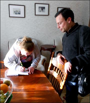 Автограф Валентины Дмитриевны на память