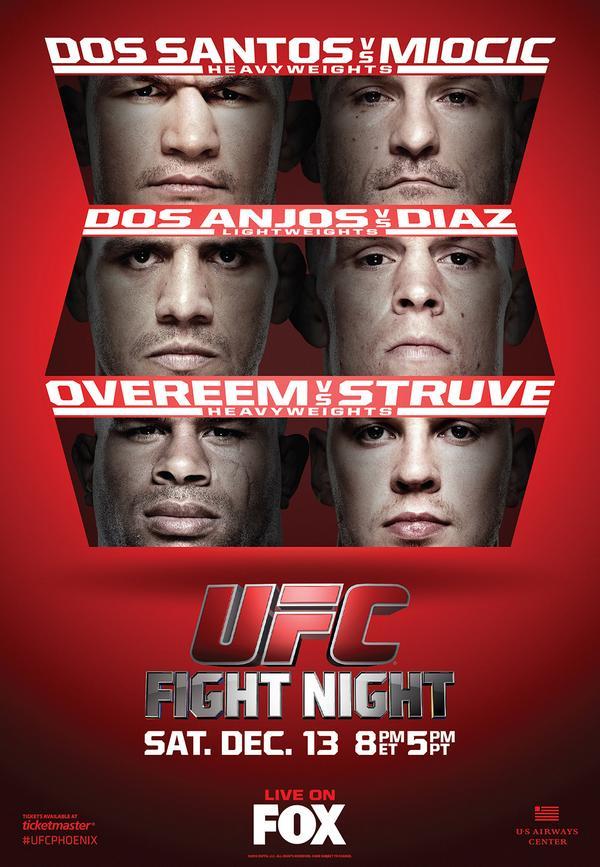 Постер к турниру UFC on FOX 13