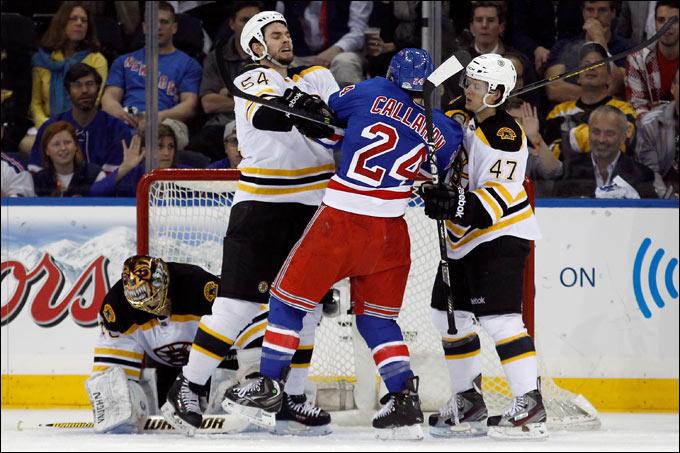 """23 мая 2013 года. Нью-Йорк. Плей-офф НХЛ. 1/4 финала. """"Рейнджерс"""" — """"Бостон"""" — 4:3 (ОТ). Матч №4. """"Рейнджеры"""" наиграли на одну победу"""